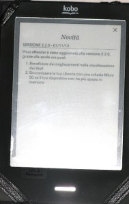 aggiornamento firmware alla versione 2.2.0