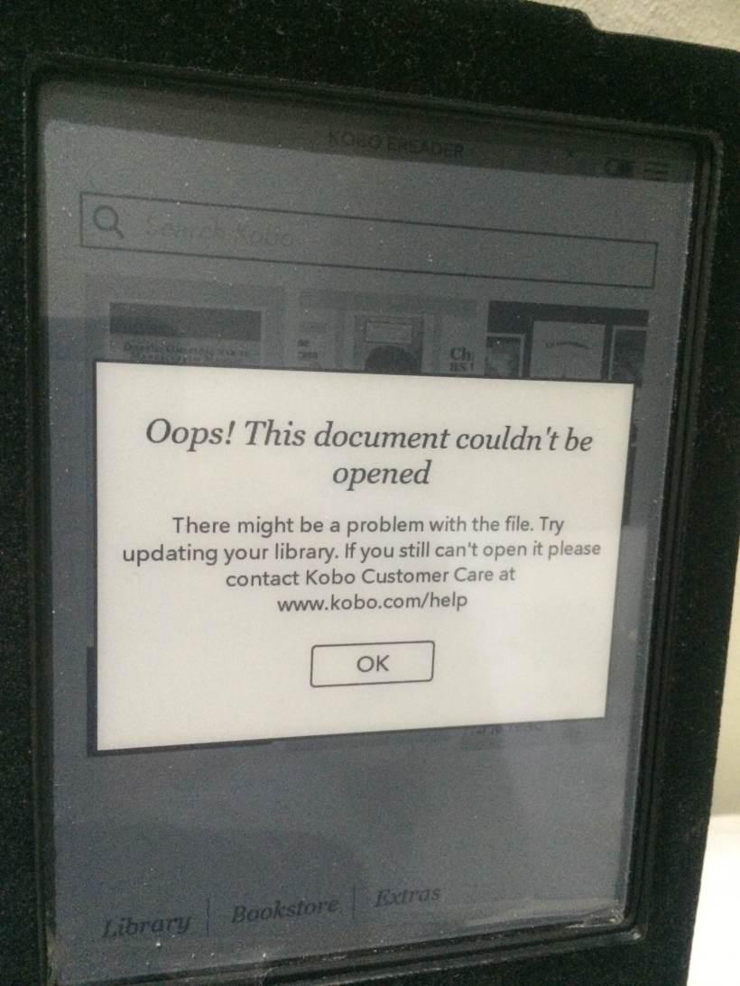 Non puoi più leggere il tuo ebook